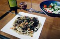pasta with porcini and mojo de aho