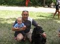 портрет с собакой и ребенком