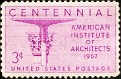 USA 1957 American Institute of Architects Centennial