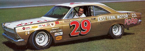 "Dick ""Hutch"" Hutcherson, 1967 Bondy Long Ford at Daytona."