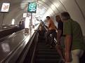 In der Metro, Rolltreppe ohne Ende