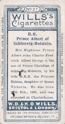 1908 Wills European Royalty #027 (2)