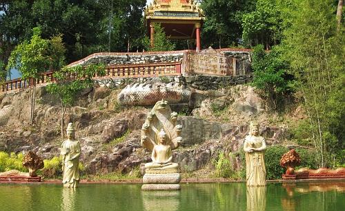 Meditation pond, one of several