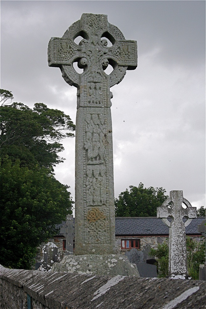 Celtic Crosses engraved with stories from the bible for the illiterate parishioners