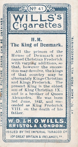 1908 Wills European Royalty #041 (2)
