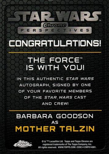 Chrome Perspectives Jedi vs  Sith Autographs Barbara Goodson (2)