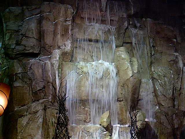 waterfall inside casino