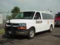Illinois State Police Chevy van