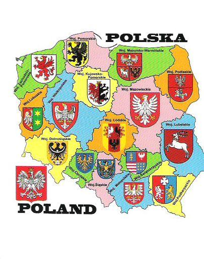 POLAND 02 REGIONS FLAGS