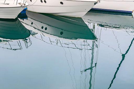 Boats reflection