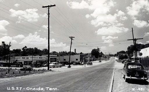 Postcard of Oak Grove in Oneida in 1950s