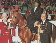 ADAMA BI BASK #220856 (Bi Bask x Linteza, by Aaronek) 1980 chestnut stallion bred by Climbing G Arabians