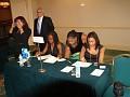 Nadia Pressage, Miss Flo, Maguy Prezeau, Tatiana and Georges Saati in the back