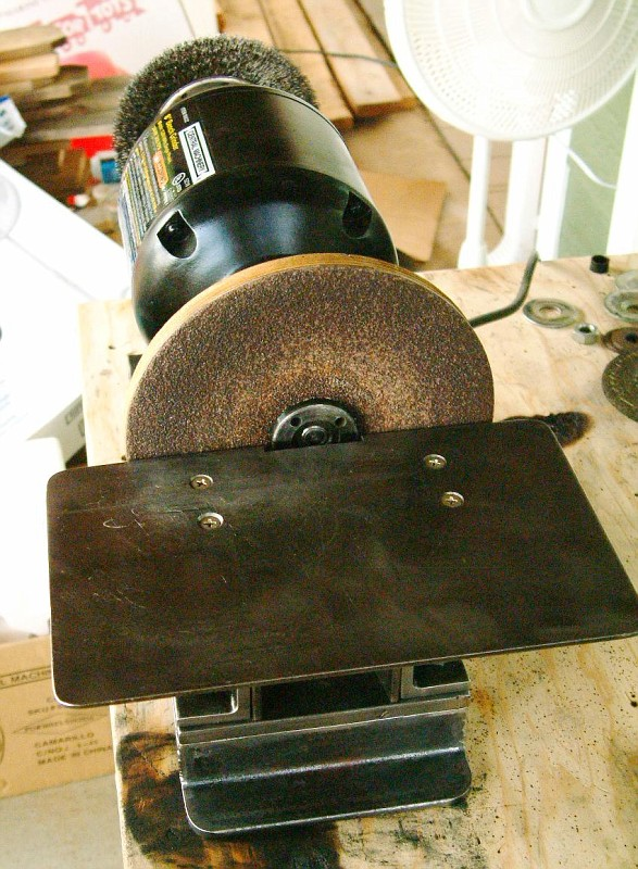 Superb The New Disc Sander Is C Clamped To The Bench To Allow Use Of It Anywhere,  Like Outside The Shop If Necessary. That Old Craftsman 1/4 Hp Grinder Was  One I ...