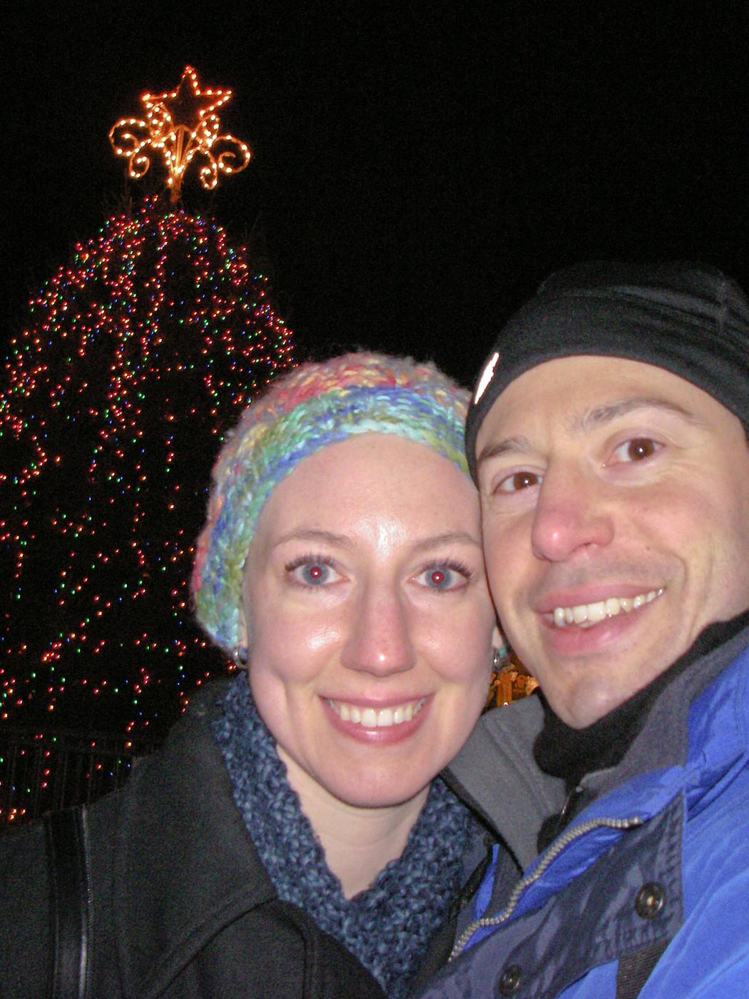 Erik & Anna at Stamford Xmas Tree 2010