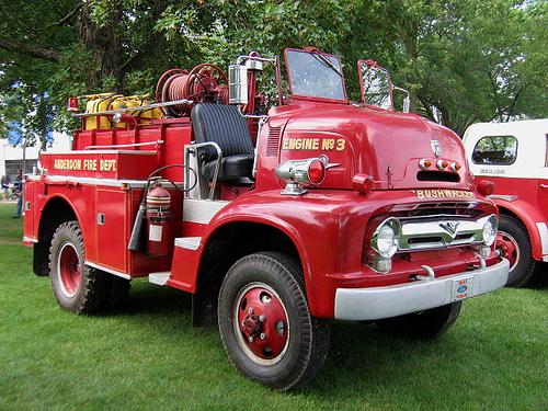1956 Ford Fire Truck : Ford bushwacker fire truck paris ontario fd