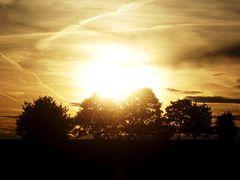Sonne im Dunst
