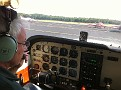 Phil Looking things over and preparing for our flight around Lower Cape May County.