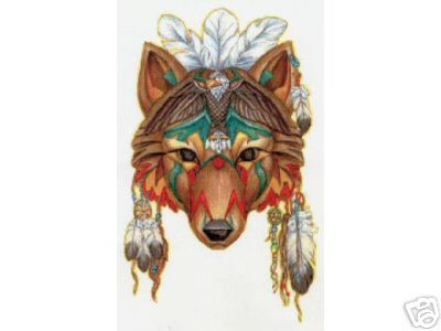 Native American Wolf M...