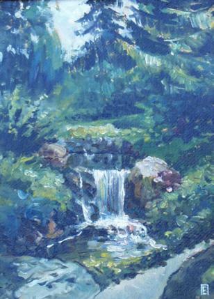 Waterfall in Uman (Ukraine)