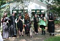 Good Witches at Flamingo gardens on Halloween with their pets!