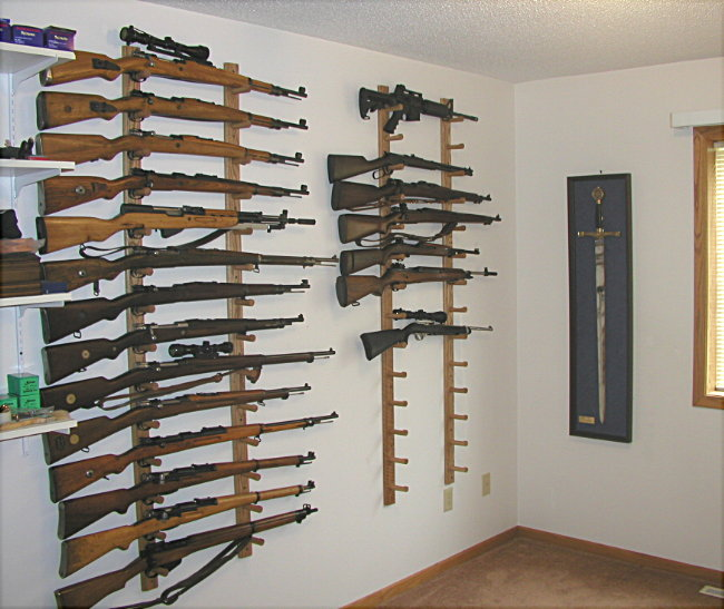 How Do You Display Your Rifles On Your Wall Lets See Em