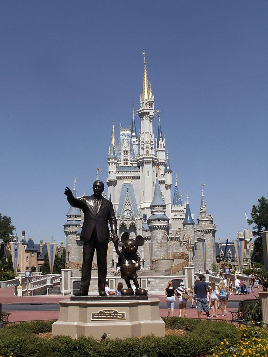 Walt Disney and Mickey Mouse welcome you to The Magic Kingdom