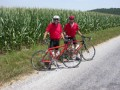 Men in red, Rob and Mike and the corn