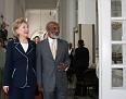 Secretary Hillary Clinton, Palais National