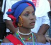 "One of the Hostesses during the ""Match de la Paix"": Brazil v. Haiti at Stade Sylvio Cator August 2004"