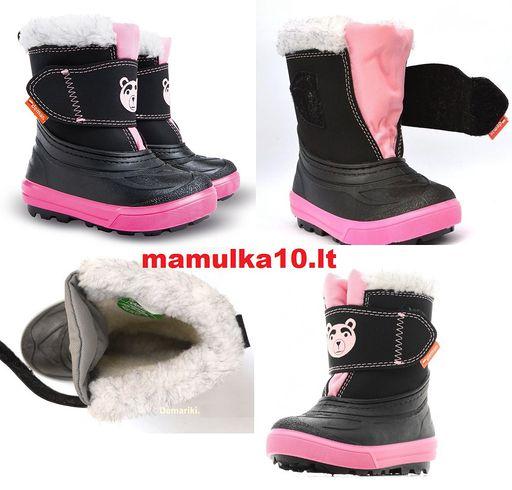 AKCIJA !!!TIK 19,99 €, 26/27 ir 28/29d, DEMAR Žieminiai batai su STORU naturaliu kailiuku is AVIES vilnos. Visada šiltos kojytės !!! NEREIKIA STORU KOJINIU !!! TINKA iki -35 salcio !!!
