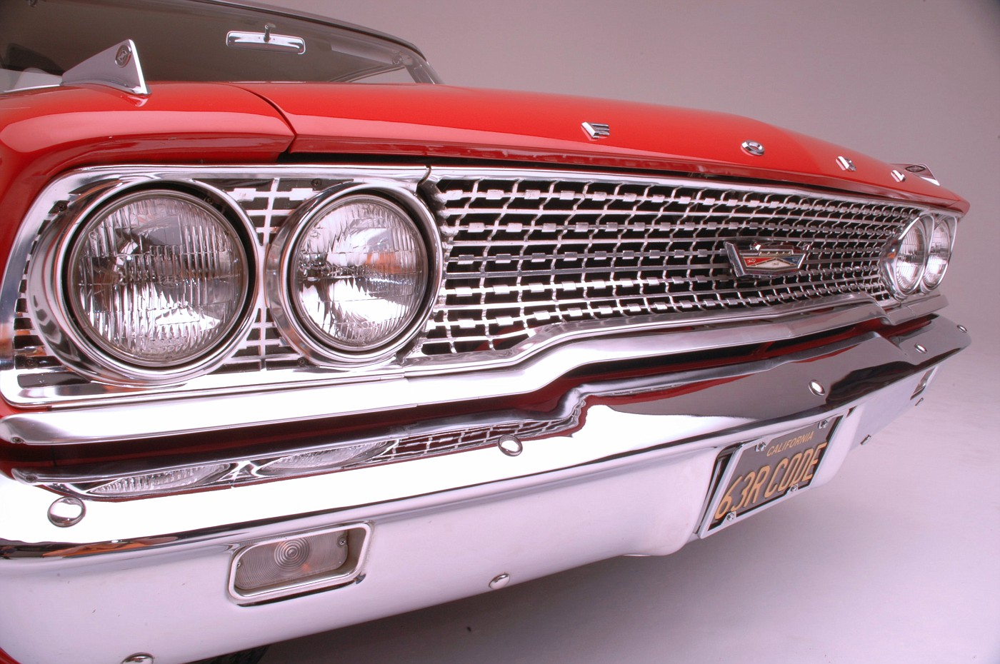 1963 Ford Galaxie 500 XL 427 R-code front grille detail 1