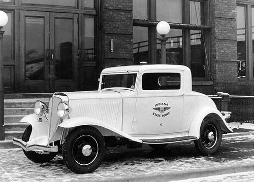 IN- Indiana State Police 1932 Studebaker