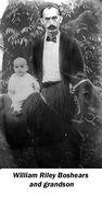William Riley Boshears and a grandson