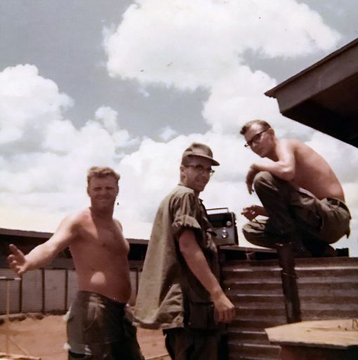 62-Some 62nd Maintenance buddies of SP5 Terry Michael Carver's. Vietnam sometime in 1969-1970.