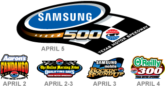 Nascar sprint cup samsung mobile 500 at texas motor for Texas motor speedway schedule this weekend