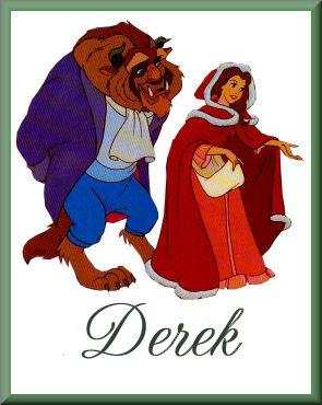 Belle & Beast out for ChristmasDerek