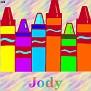 Crayons at schoolJody