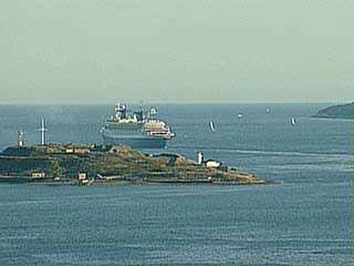 SS Norway leaving Halifax